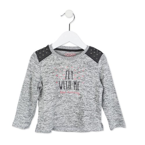 Losan Kids Kız Sweatshirt Gri Melanj Fly With Me