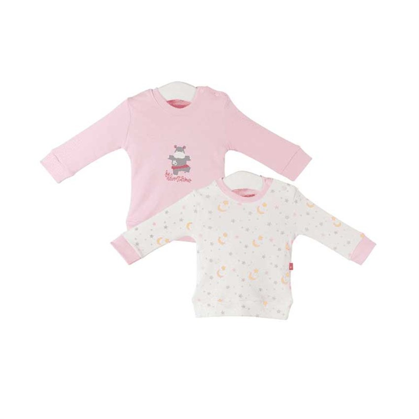 Fisher Price Hippo 2'li Sweat Pembe