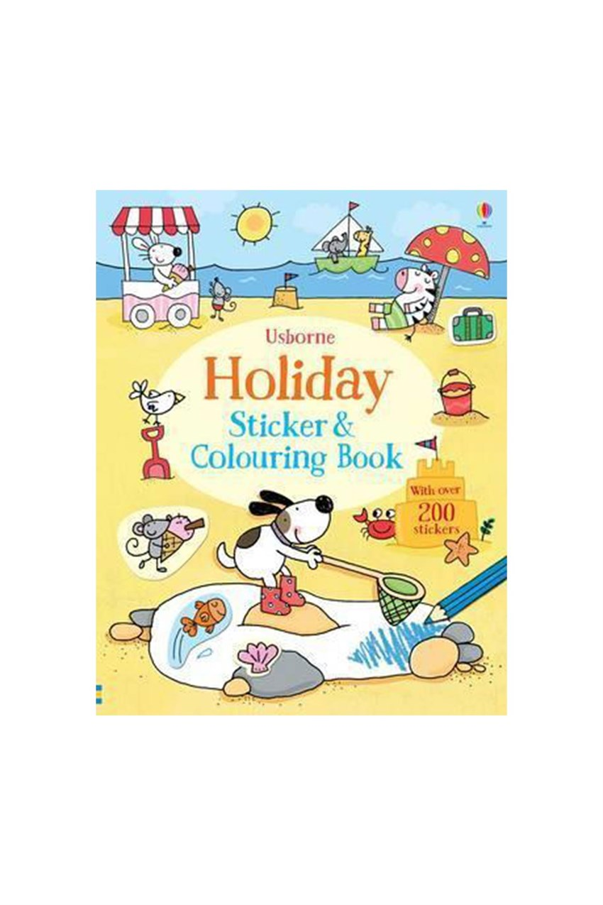 The Usborne Holiday Sticker Colouring Book