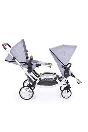 ABC Design  Zoom İkiz Bebek Arabası Graphite Grey