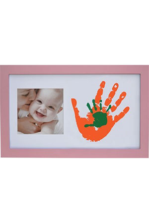 Baby Memory Prints Paint Wall Pembe