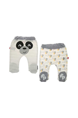 Fisher Price Panda 2li Patikli Pantolon Gri