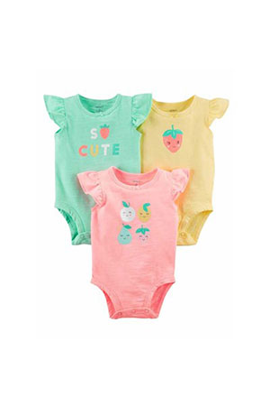 Carters Kız Bebek 3lü Body-Fruit Collection Multi