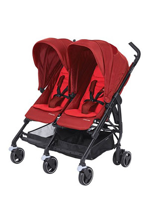 Maxi-Cosi Dana For2 İkiz Bebek Arabası / Vivid Red