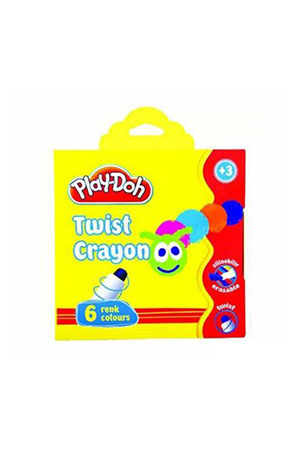 Play-Doh 6 Renk Twist Crayon Karton Kutu 10mm