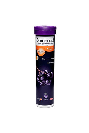 Sambucol Plus Black Elderberry Efervesan 15 Tablet