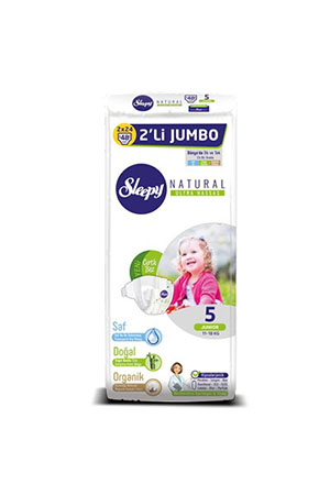 Sleepy Natural 2li Jumbo Junior 48li 5 Numara 11-18 Kg