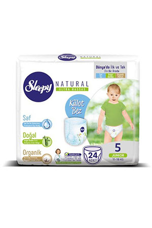Sleepy Natural Jumbo Junior 24 lü 5 Numara 11-18 Kg