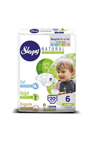 Sleepy Natural Jumbo Xlarge 20'li 6 Numara 15-25 Kg