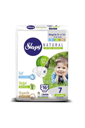 Sleepy Natural Jumbo XXLarge 16lı 7 Numara 20-30 Kg