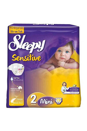Sleepy Sensitive Mini Jumbo 78`li Bebek Bezi 2 Numara 3-6 kg