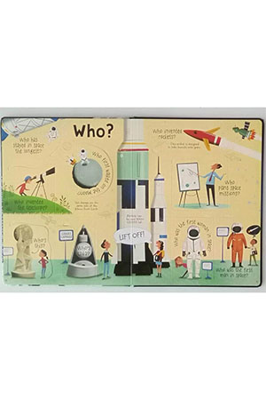 The Usborne Lift-The-Flap Questions and Answers About Space