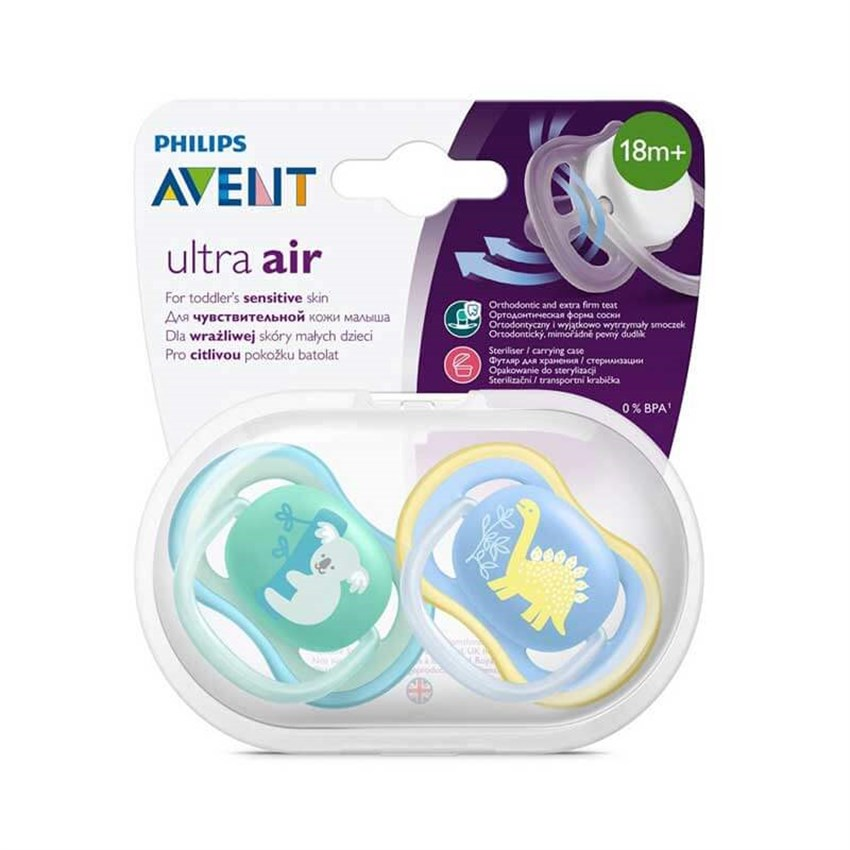 Philips Avent Ultra Air Silikon Emzik +18 Ay Mavi