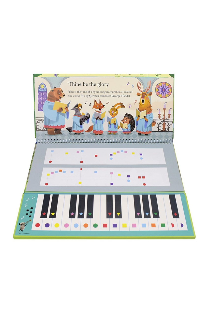 USB - Famous Classical Tunes Keyboard Book Beyaz